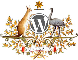 WordPress Logo in United States Coat of Arms