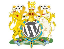 WordPress Logo in United Kingdom Coat of Arms