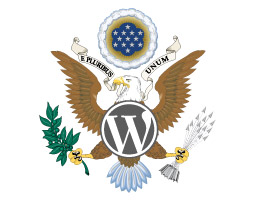 WordPress Logo in United States Great Seal