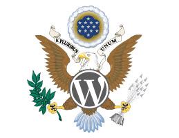 WordPress Logo in United States Great Seal