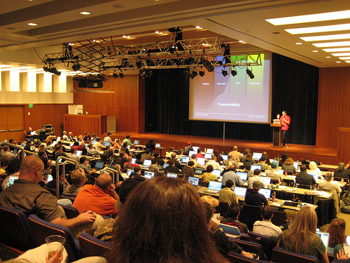 Photo of my WordCamp 2008 presentation by Sheila Ellen